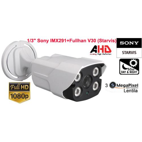 UV-AHDBS909_3,6mm/ Cameră de supraveghere AHD (2,1 Mpixeli) de exterior/interior pentru 50 metri pe timp de noapte și  cipset SONY STARVIS (imagine color pe timp de noapte)