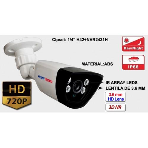 UV-AHDBX607/ Camera supraveghere Analog HD(1 Mpixel) de exterior/interior pentru 20 metri pe timp de noapte