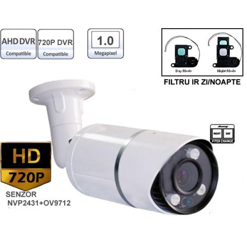 UV-AHDBX612/ Cameră de supraveghere HD (720P) de exterior/interior cu 3 leduri IR Array