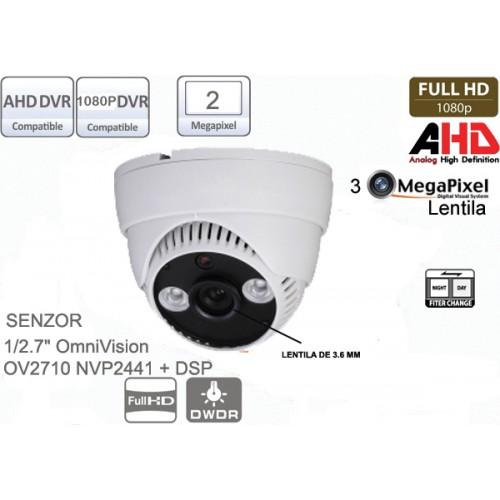 UV-AHDBP314 Camera supraveghere Full AHD (1080P)de interior cu 2 leduri IR array