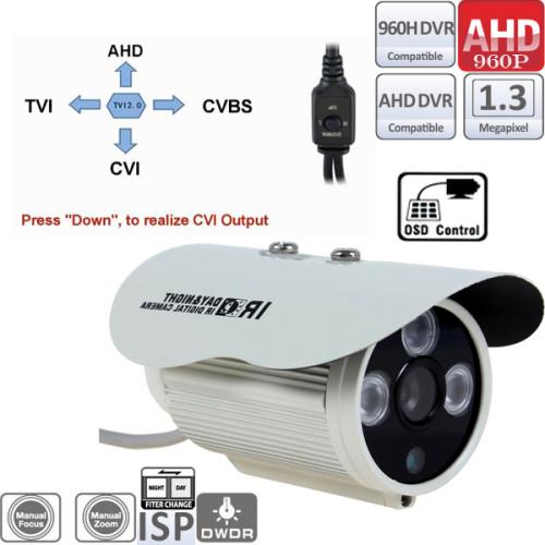 UV-HDBM401Camera supraveghere AHD (960P)de interior/exterior cu 3 leduri IR ARRAY si comutator AHD/CVI/TVI/ Analog 4 in 1