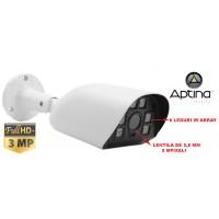 UV-HDTVIBQ515/ Cameră de supraveghere AHD 3 Mpixeli de exterior/interior pentru 30 metri pe timp de noapte și lentilă fixă de 3,6 mm