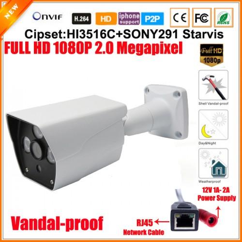 UV-IPBH518X/ Cameră de supraveghere cu funcție internet la 2 Mpixeli pentru distanțe  mari pe timp de noapte, 40 m, cu cipset Sony Starvis