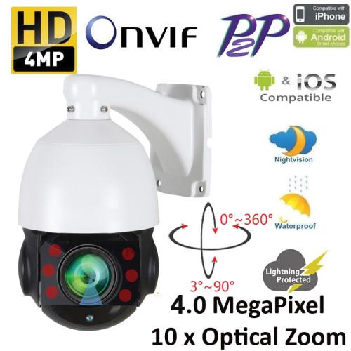 UV-IPDMH08/ Minicameră de supraveghere tip speed-dome HD-IP de 4,5'' înaltă rezoluție 4 Mpixeli motorizat autozoom-autofocus (IP66) cu sistem de compresie H.265