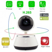 WFQ6/ Mini PTZ IP Wireless Camera cu inregistrare pe card micro SD pana la 64 GB