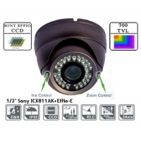 ADST30S70/ CAMERA DOME COLOR DE INTERIOR CU LENTILA REGLABILA: 2,8-12 MM