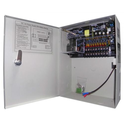 CP-12-05U09 / Sursă de alimentare cu back-up pentru maxim 9 camere de supraveghere 12V/5A