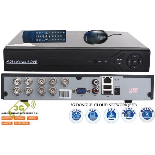DVR-9208/ DVR cu 8 canale video și 1 canal audio pentru camere analogice