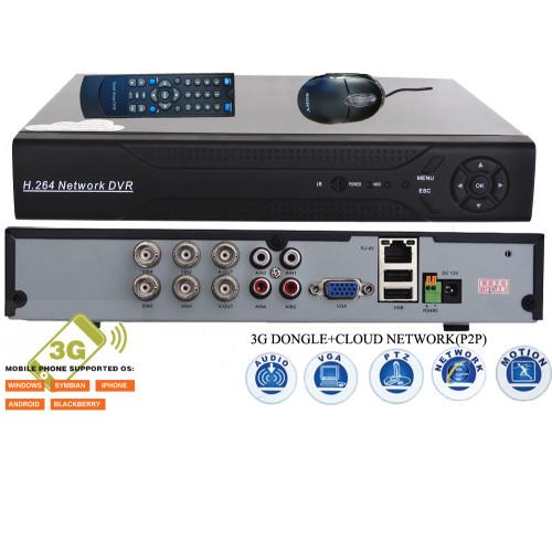 DVR-9204/ DVR cu 4 canale full D1 pentru camere analogice