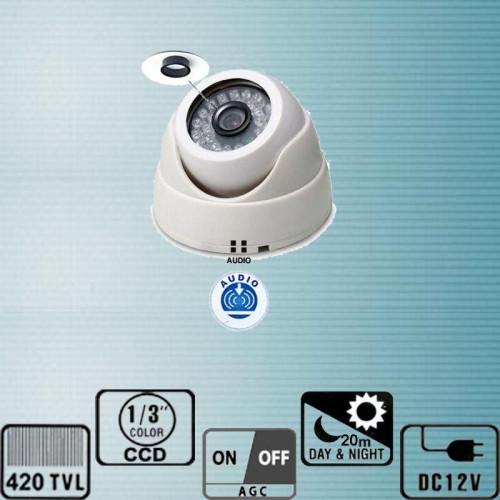 NK-210ACS023IR26C/ Cameră de supraveghere tip Dome de interior cu IR și audio