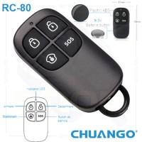 RC-80/ Telecomandă compatibilă cu sistemele de alarmă CHUANGO GO2 și CG-G5