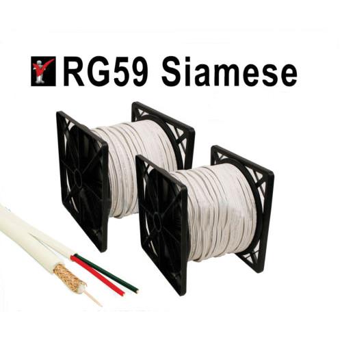 Cablu RG59 cu alimentare, role de 300 m