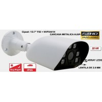 UV-AHDBP515/ Cameră de supraveghere AHD (2 Mpixeli) de exterior/interior pentru 30 metri pe timp de noapte și lentilă de unghi mare (82º)