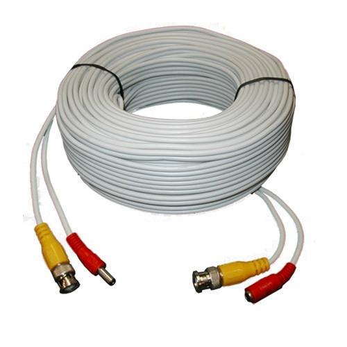 Cabluri de conexiune direct sertizate, 20 m, video+alimentare