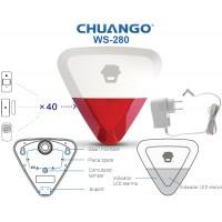 WS-280/ SIRENA DE EXTERIOR WIRELESS compatibila cu  sistemele de alarma  CHUANGO GO2 si  CG-G5