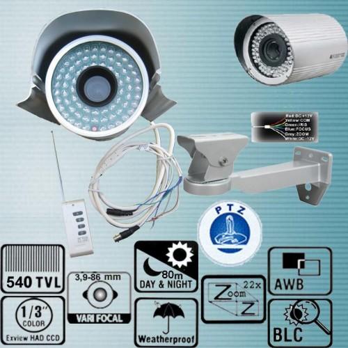 YC-100ZT/ Cameră de supraveghere de exterior cu 22x zoom optic, telecomandă și lentilă optică reglabilă între 3,9-85,8 mm